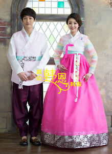 Korean Traditional Hanbok Dress Women Men Hanbok Bride