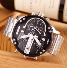 New Diesel DZ7313 Mr. Daddy 2.0 Black Steel Chronograph Men Wrist Watch   Box