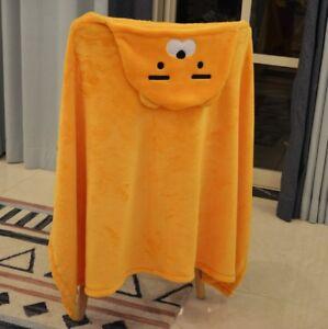Kakao-Friends-Ryan-Apeach-Flannel-Blanket-Hoodie-Cape-Cloak-Cartoon-80x130cm
