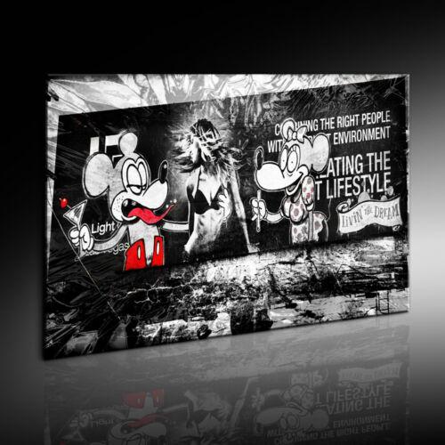 Wandbild Leinwand 697 Banksy Mickey and Minnie Graffiti Street Art  Kunstdruck