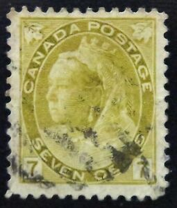 Kengo-1902-Canada-stamp-81-QUEEN-VICTORIA-034-NUMERAL-034-ISSUE-used-CV-30-164