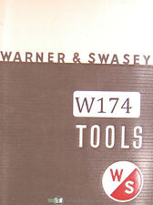 Warner Amp Swasey Tooling No 59a Turret Lathe Tooling Manual Year 1962