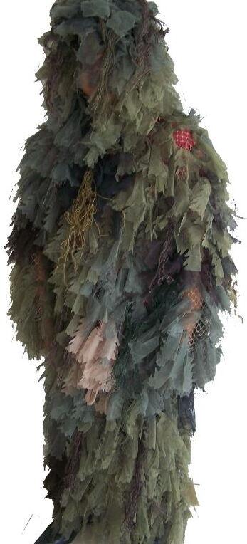 Leaf Ghillie Long Suit Woodland  Camo, Fit large & X-Large Size ST37  exclusive