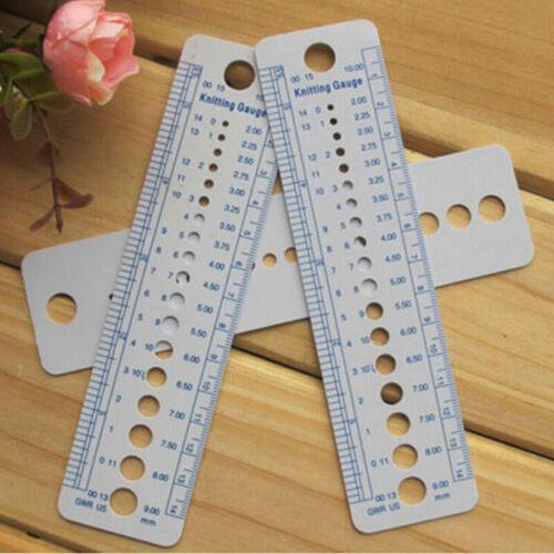 1 pcs en plastique aiguille à tricoter Gauge Inch cm Ruler outil de couture accessoires outils