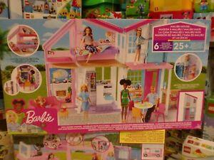 casa barbie malibu –  Barbie- La Nuova Casa di Malibu, Playset Richiudibile su Due Piani con Accessori, Giocattolo per Bambini 3+ Anni, FXG57,