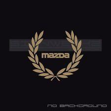 Mazda Racing Wreath Decal Sticker logo turbo mazdaspeed mx5 miata classic Pair