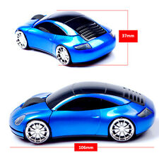 UK 2.4GHz Cordless 3D 1600DPI Porsche Car Shape Usb Optical Wireless Mouse Mice