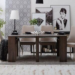 Tavolo consolle allungabile ANDROMEDA Gihome® 3 metri legno scuro estensibile