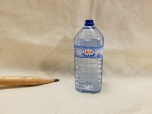 B034 Dollhouse Miniature LUSO Bottle Mineral Water Drink migros supermarket 1:4