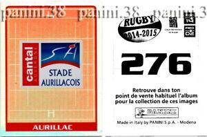 "Rare!!! stadium aurillacois sticker # 276 ""rugby 2014-2015"" panini"