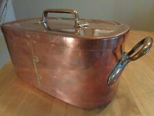 """Antique Copper Daubiere/Roasting Pan with """"Rack"""", Dovetailed -Rare"""