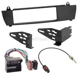 BMW-X3-E83-04-10-1-DIN-Autoradio-Einbauset-Adapter-Kabel-Radioblende