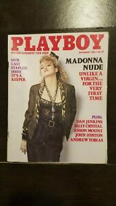 Vintage-September-1985-Playboy-issue-with-Madonna-nude-pictorial-VG-Ex
