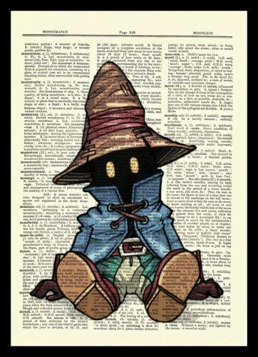 Vivi Final Fantasy Dictionary Art Print Poster Picture Game Kingdom Hearts IX