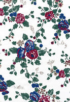 Floral Graceful Leaf Chic Trailing Flowers Perennial Vtg Double Roll Wallpaper