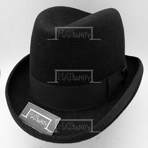 CLASSIC Wool Felt Men Homburg Top Hat Gentlemen Formal Fedora NEW ... 46bfdc4323bb