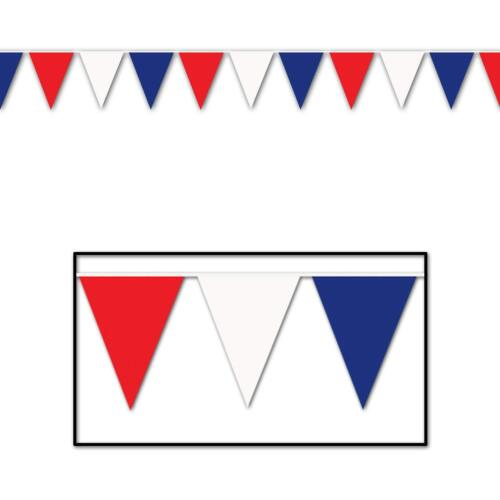 30 foot heavy duty Outdoor All Weather Patriotic Pennant Banner flags decoration