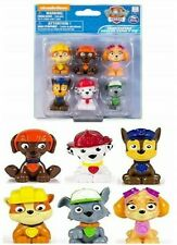 Nickelodeon 6 Paw Patrol Mini Figure Chase Skye Marshall & 24 PC Puzzl3