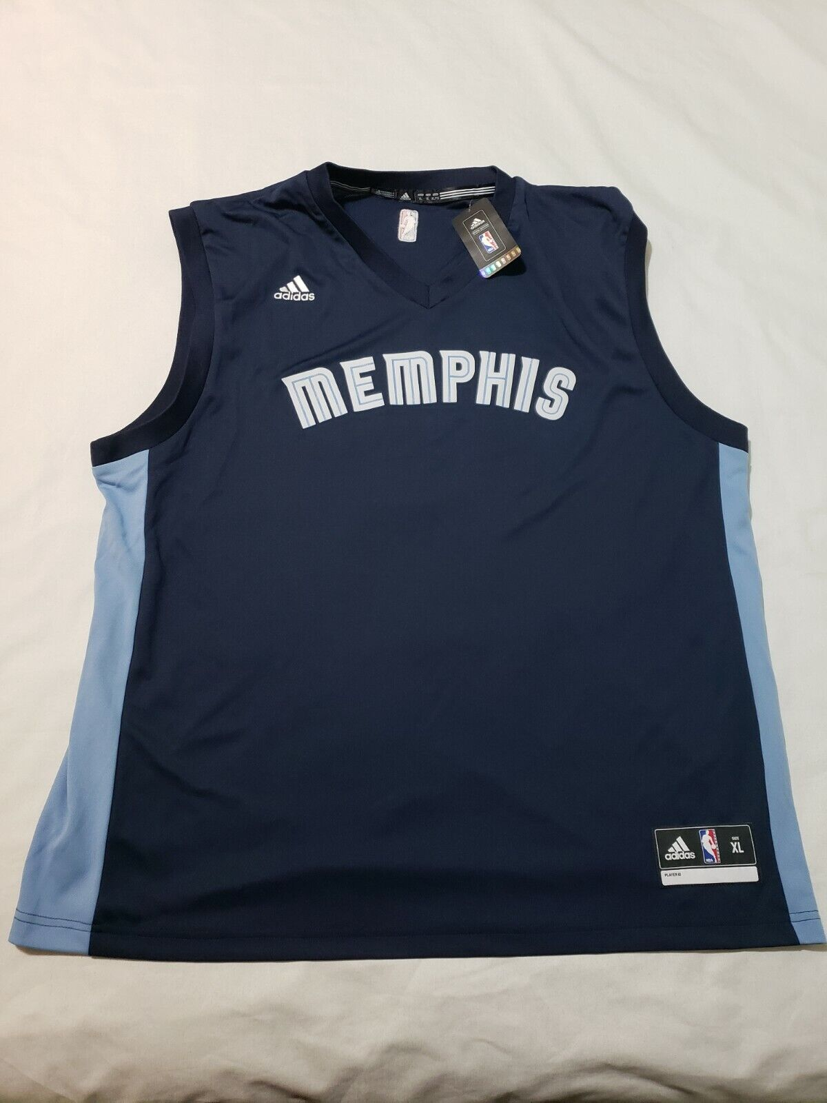 adidas NBA Authentics Memphis Grizzlies Basketball Jersey Mens XL ...