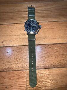 OHSEN-Army-Men-039-s-Sport-Digital-LED-Nylon-Canvas-Alarm-Green-Quartz-Analog-Watch