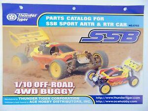 Vintage Thunder Tiger Parts Catalogue Catalog For Ssb Sport Artr