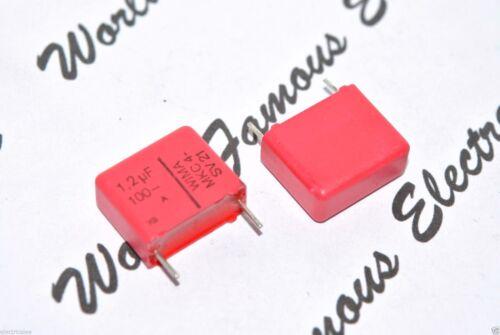 WIMA MKC4-SV21 1.2uF 100V pitch:15mm 20/% Polycarbonate Capacitor 1,2µF 4pcs