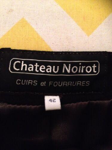 Agneau Jupe Comme Velours Cuir Noirot Marque Droite Neuve Marron Chateau 42 qqRwCBg
