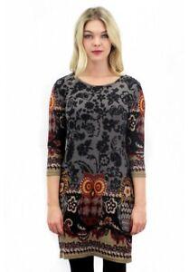 the best attitude 7f83b 6ab28 Details zu PURPLISH LONDON BOHO OWL Dress Vintage Kleid Strickkleid Eule S  M L XL XXL NEU