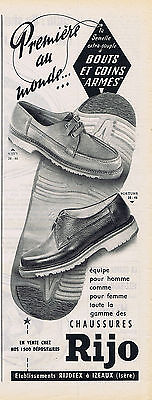 Other Breweriana Reasonable Publicite Advertising 084 1956 Rijo Chaussures Bouts Et Coins Armés High Standard In Quality And Hygiene Breweriana, Beer
