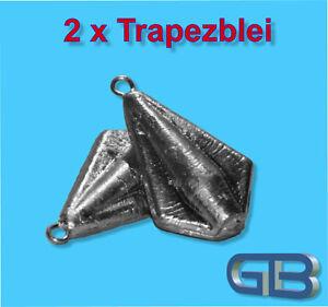 2-x-Trapezblei-20g-40g-60g-80g-Karpfenblei-Blei-Grundblei-Angelblei