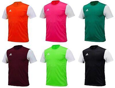 Adidas Men ESTRO 19 Shirts S/S Soccer Jersey Red Black Climalite Shirt DP3236   eBay