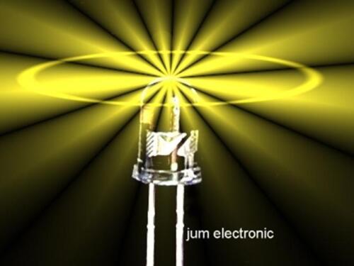 Led 3mm GELB 2000mcd max // hoher Fertigungsstandard 50 Stück Leuchtdioden