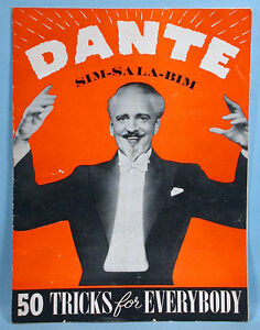 Dante the Magician Original Stage Program with photos Tricks Harry Jansen 1940s