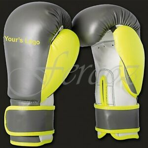 Professional Premium Cow Hide Leather boxing Gloves Laces unbranded