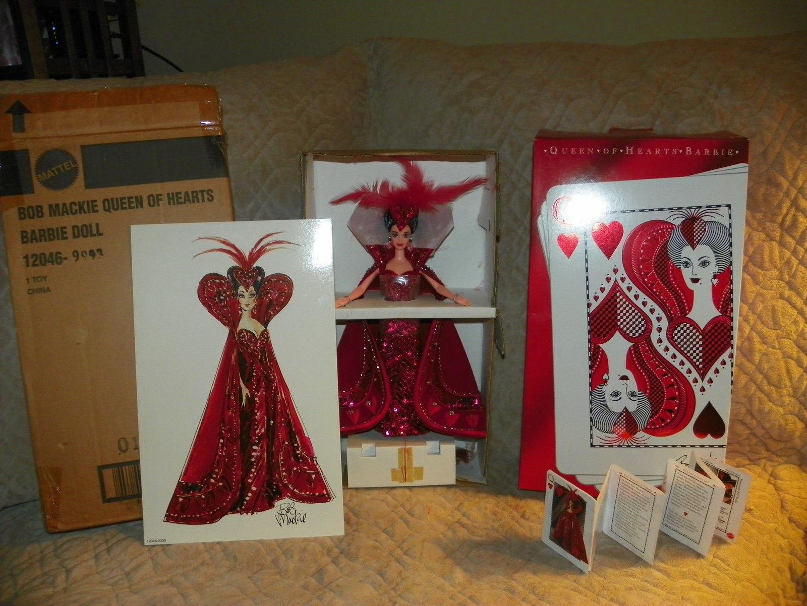 Bob Mackie Diseño Reina De Corazones Barbie, 1994, w factory Cargador Nuevo En Caja