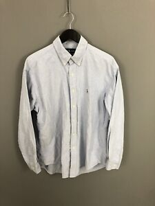 RALPH-LAUREN-BLAIRE-Shirt-Size-Large-Blue-Great-Condition-Men-s