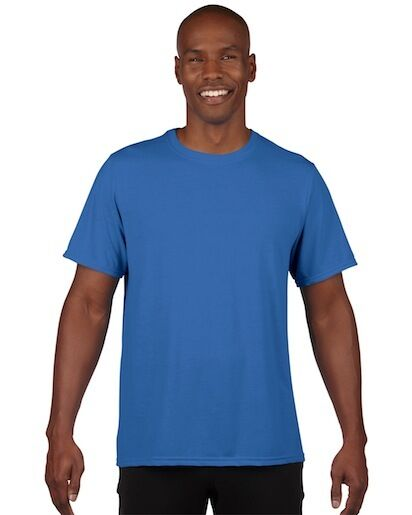27167f3b4 Gildan Classic Fit Mens Small Adult Performance Short Sleeve T-shirt Royal  Blue for sale online | eBay