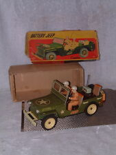 VINTAGE, LARGE, TIN BATTERY JEEP FROM CRAGSTAN FULLY WORKING W/ORIGINAL BOX!!