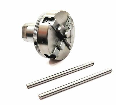 """50 mm 3 Jaw Self Center Chuck M12x1 Back Plate /& T nuts for 3/"""" /& 4/"""" Rotary Table"""
