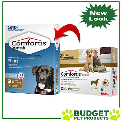 Comfortis For Dogs 27.1-54kg Brown 6 tablets
