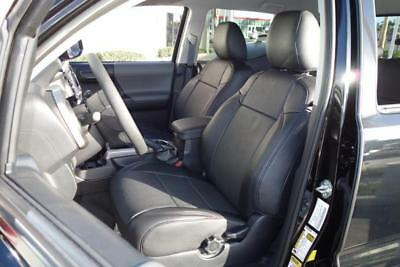 Clazzio 221211blk Black Leather Front Row Seat Cover for Toyota Tundra Crew Max