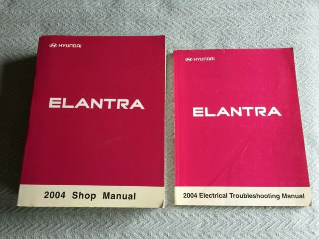 2004 Hyundai Elantra Service Shop Repair Manual Set  2