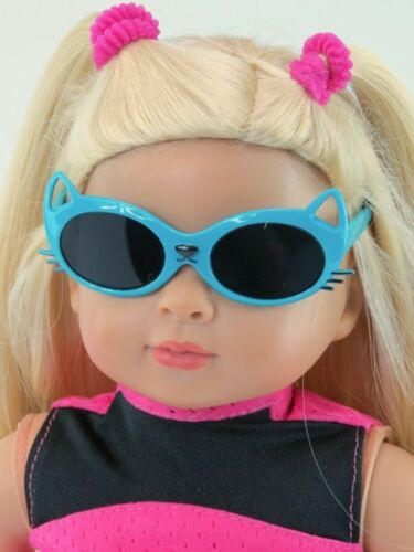Fits American Girl Dolls Teal Cat Sunglasses for 18/'/' dolls