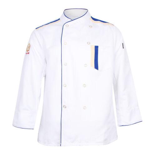 Restaurant Hotel Unisex Chef Long Sleeve Coat Jacket Uniform Cook Waiter