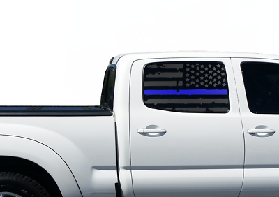 Toyota Tacoma Distressed USA Flag Decals Rear window Double Cab TRD Pro sr5 TP8
