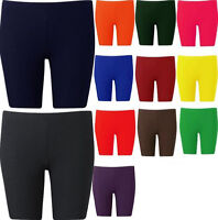 Womens Plus Size Cycling Shorts Over Knee Length Hot Pants Tights 16-26