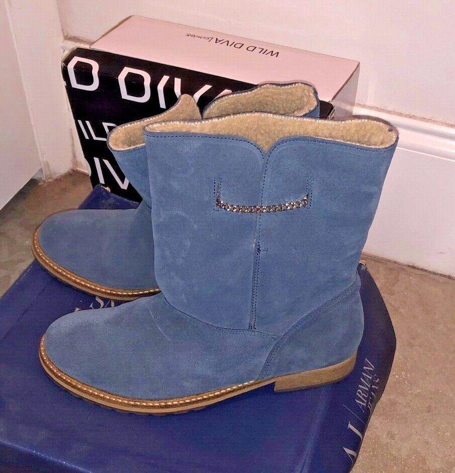 ARMANI JEANS WOMENS blueE BOOTS