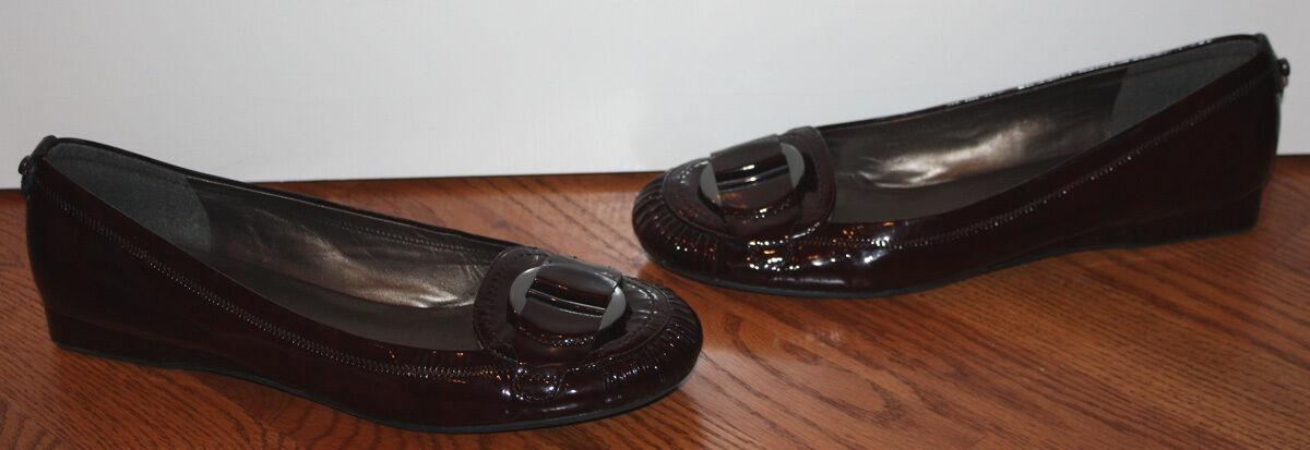 Donna Stuart Weitzman Weitzman Weitzman  375 Patent Pelle Burgundy Wedge Shoes Size 9 M b0957b