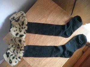 New Women Winter Warm Faux Fur Cover Cuff Socks Boot Socks Boots socks with fur