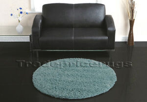 LARGE-THICK-ROUND-CIRCLE-DUCK-EGG-TEAL-BLUE-SHAGGY-RUG